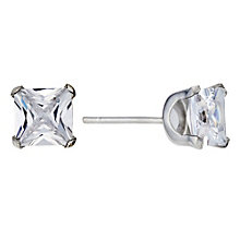 9ct White Gold Cubic Zirconia Square Stud Earrings - Product number 8988145