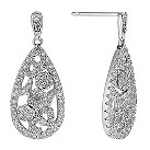 9ct white gold half carat diamond teardrop earrings - Product number 8988862