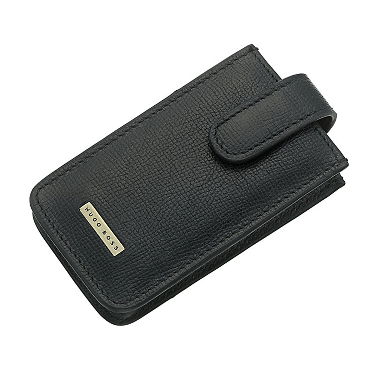 Hugo Boss black leather iPhone case - Product number 8990816