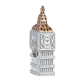 Clogau Silver & 9ct rose gold Big Ben Bead - Product number 8991634