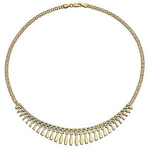 9ct Yellow Gold Cleo Collar Necklace
