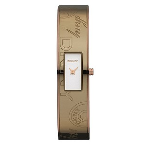 DKNY Ladies' Caramel Silver Bangle Watch - Product number 8993262