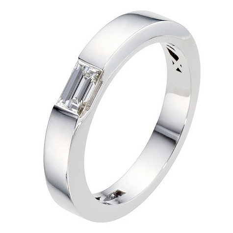 Amanda Wakeley platinum 1/3 carat baguette diamond ring