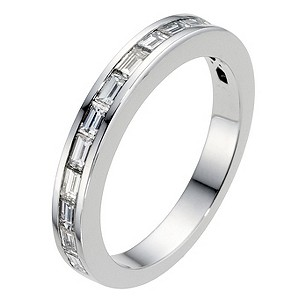 Amanda Wakeley platinum & 0.60 carat baguette diamond ring - Product number 8994390