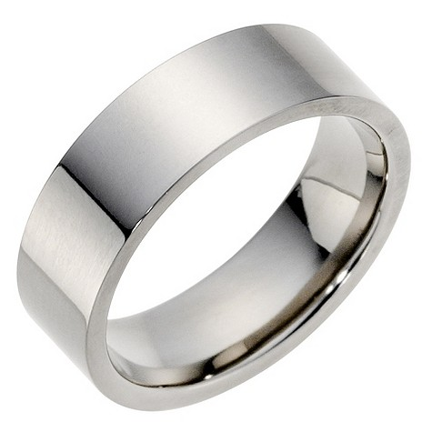 Titanium polished 7mm ring