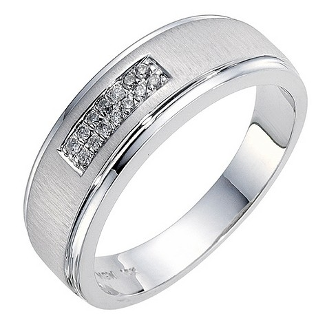 9ct white gold matt