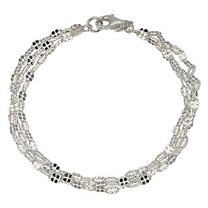 Ladies' silver three row chain bracelet - Product number 8996415