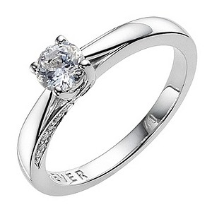 18ct White Gold 0.40 Carat Diamond Solitaire Ring