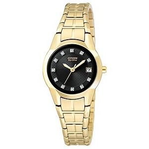 Citizen Eco-Drive Ladies' Gold Plated Bracelet Watch - Product number 8997578