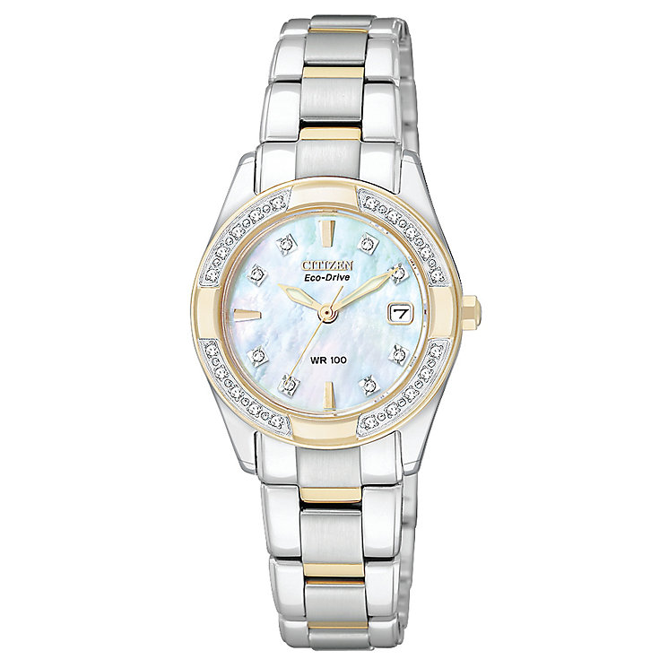 Citizen Eco-Drive Ladies' Two Tone Bracelet Watch - Product number 8997810