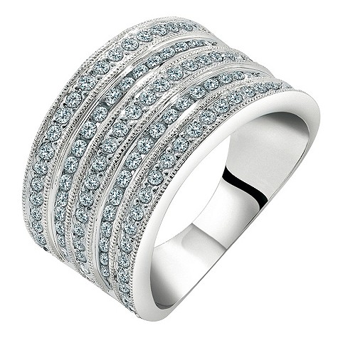 18ct white gold 1 carat diamond cocktail ring
