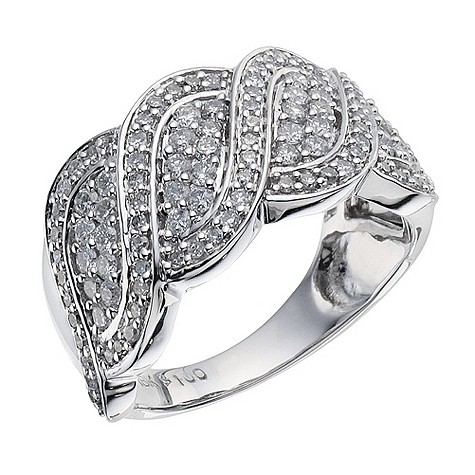18ct white gold 1 carat cocktail diamond ring