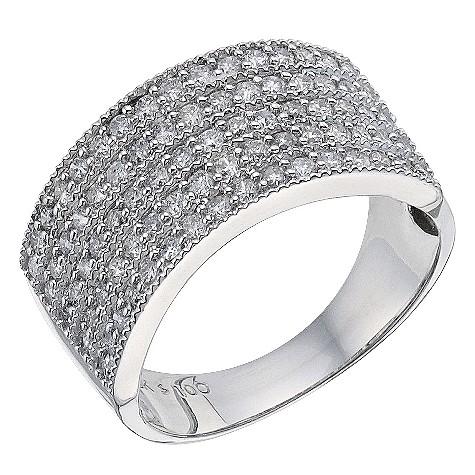18ct white gold 1 carat cocktail diamond ring
