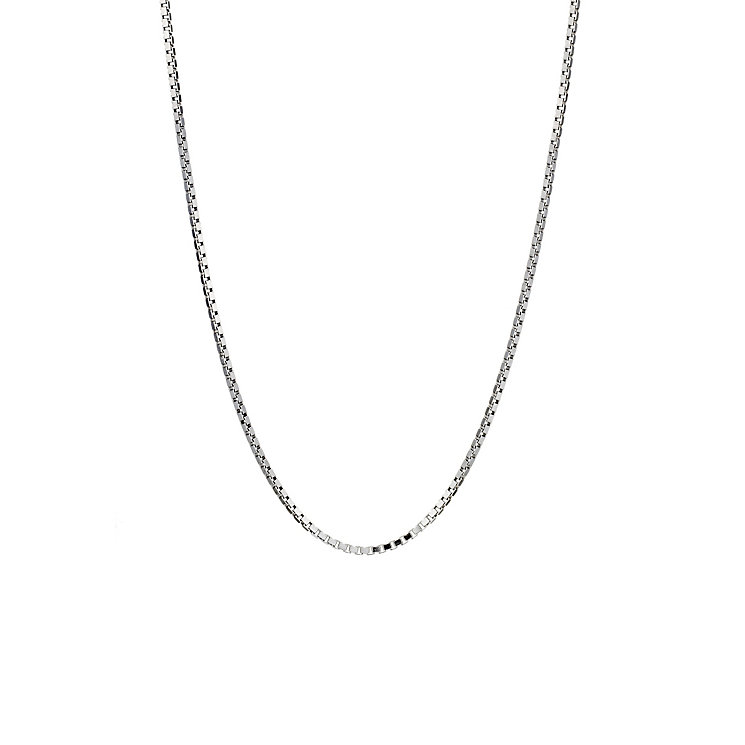 Silver adjustable box chain - Product number 9000917