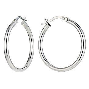 Silver 20mm Plain Hoop Earrings - Product number 9001514