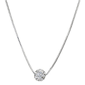 Silver & Crystal Ball Necklace - Product number 9001565