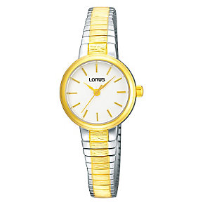 Lorus Ladies' Two Tone Expander Bracelet Watch - Product number 9003088