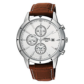 Lorus Men's Brown Strap Watch - Product number 9003185