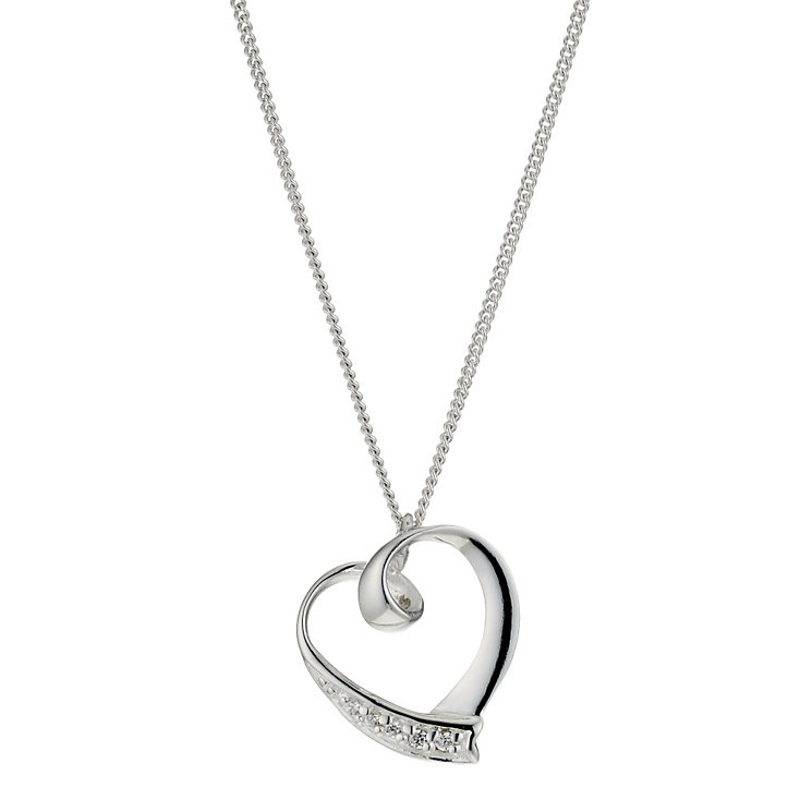 Silver& Cubic Zirconia Heart Pendant - Product number 9003975