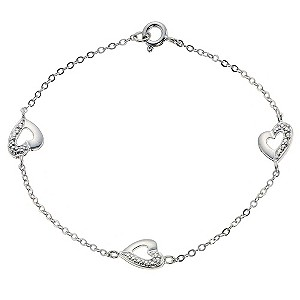Silver Three Heart Bracelet - Product number 9003983