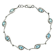 Viva Colour Silver & Blue Topaz Bracelet - Product number 9005080