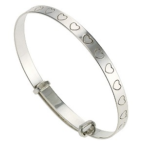 Silver Heart Expander Bangle - Product number 9005129
