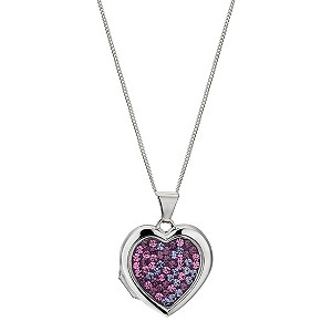 Silver Multi Colour Heart Locket - Product number 9005226