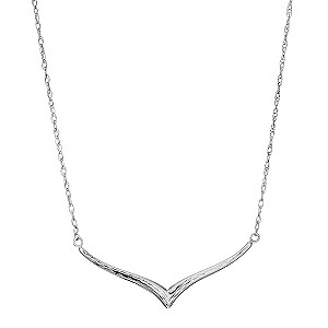 Silver Diamond Cut Necklace