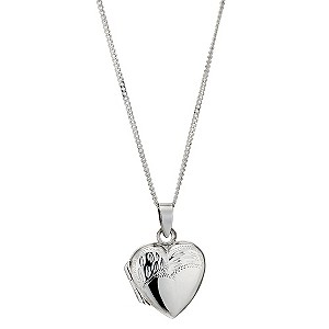 Silver Diamond Cut Locket