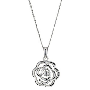 Silver Open Flower Pendant - Product number 9005692