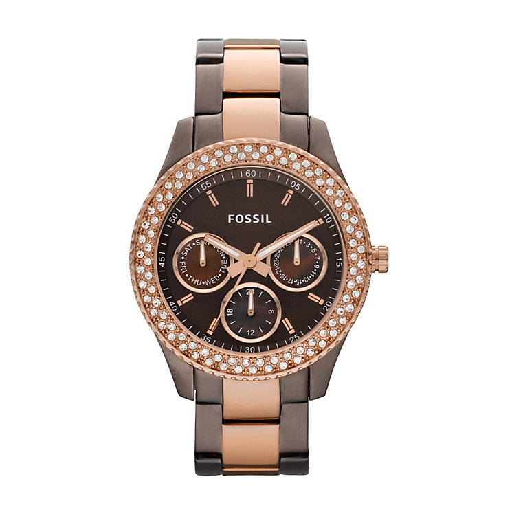 Fossil Ladies' Two Tone Bracelet Watch - Product number 9006567