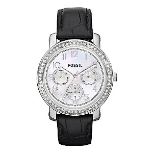 Fossil Ladies' Black Strap Watch - Product number 9006613