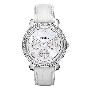 Fossil Ladies' White Strap Watch - Product number 9006621