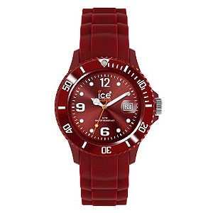 Ice Ladies' Exclusive Deep Red Strap Watch