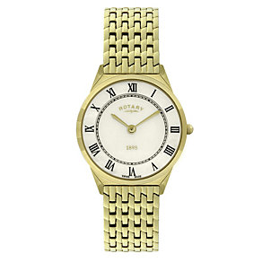 Rotary Men's Gold Plated Bracelet Watch - Product number 9007385