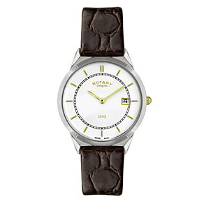 Rotary Men's Mock Croc Strap Watch - Product number 9007407