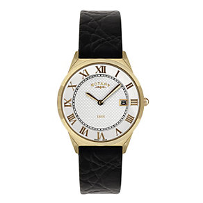 Rotary Men's Rose Gold & Black Strap Watch - Product number 9007423