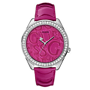 Guess Ladies' Stoneset Strap Watch - Product number 9007660