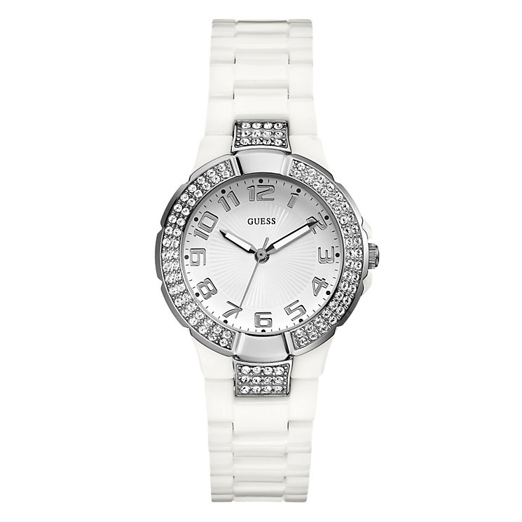 Guess Ladies' White Bracelet Watch - Product number 9007776