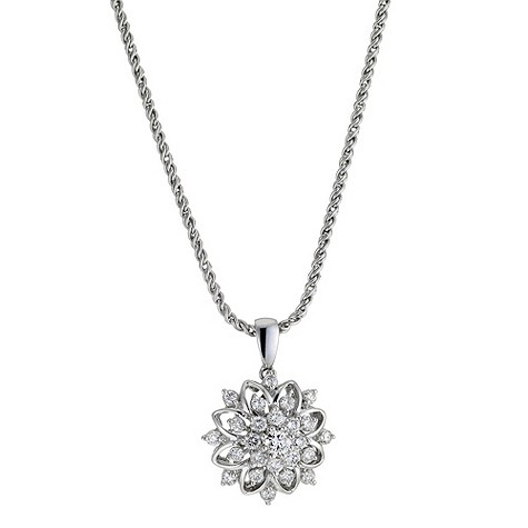 Sattva 18ct White Gold 0.64 Carat Diamond Necklace