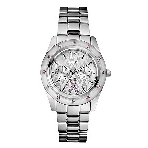 Guess Ladies' Pink & Silver Dial Watch - Product number 9008012