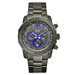 Guess Men's Brickhouse Blue & Black Bracelet Watch - Product number 9008020