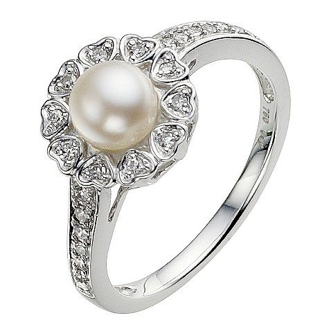 Sattva 18ct White Gold 0.15 Carat Diamond Ring