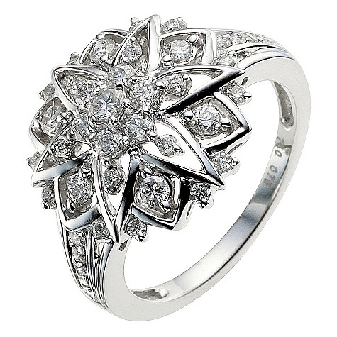 Sattva 18ct White Gold 3/4 Carat Diamond Ring