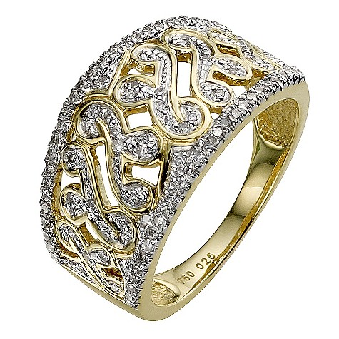 Sattva 18ct Yellow Gold 1/4 Carat Diamond Ring