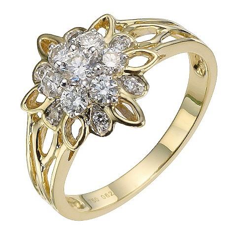 Sattva 18ct Yellow Gold 0.62 Carat Diamond Ring