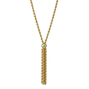 "9ct Yellow Gold 17"" Rope Tassel Necklace - Product number 9009191"