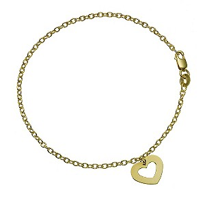 9ct Yellow Gold 7.5` Open Heart Charm product image