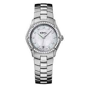 Ebel ladies' diamond & stainless steel bracelet watch - Product number 9010483