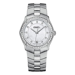 Ebel ladies' diamond & stainless steel bracelet watch - Product number 9010769